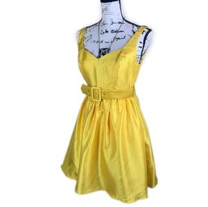 I.N. Sleeveless Yellow Formal/Prom, Size 28